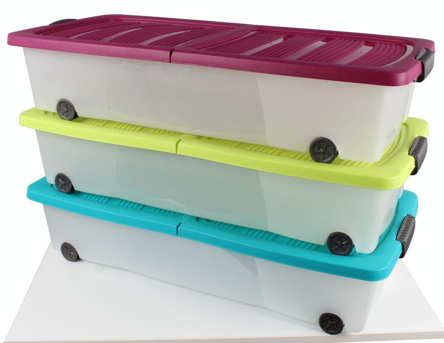 Unterbett rollenbox mit deckel 17x80x38 cm for Bett lidl