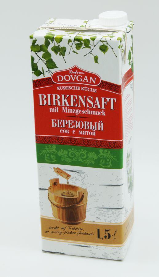 birkensaft mit minzgeschmack 1 ltr saft getr nk russisch. Black Bedroom Furniture Sets. Home Design Ideas