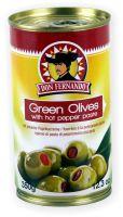 Grüne Oliven mit Paprikacreme entsteint 350g