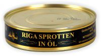 Riga Sprotten in Öl geräuchert Fisch 160g (GP:0,74¤/100g)
