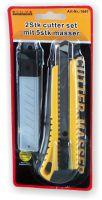 Cuttermesser Set 2 teilig mit 5 Ersatzklingen