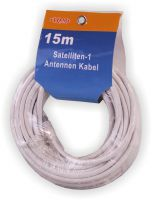 Satelliten Antennenkabel 15m SAT Koaxial Digital Kabel RG-6U