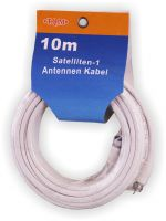 Satelliten Antennenkabel 10m SAT Koaxial Digital Kabel RG-6U