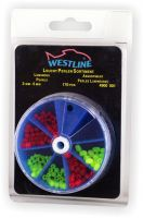 Leuchtperlen-Sortiment 3-5mm 170 Stück Westline Leuchtperlen grün rot