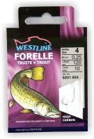 Angelhaken Forelle 10 Stück Westline Forellenhaken für Schleppköder