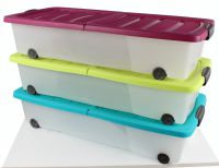 Unterbett-Rollenbox mit Deckel 17x80x38 cm