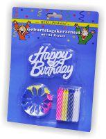 Geburtstagskerzenset 24 Kerzen und 12 Halter
