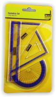 Geometrieset 4 teilig 15cm farbig