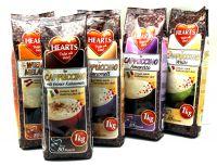 Cappuccino Hearts 5kg (5 x 1 kg) verschiedene Sorten Hearts Amaretto White
