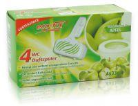 eco-fix 4er WC Duftspüler -Apfel- 4 x 33g