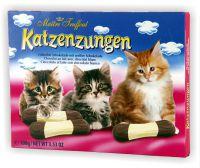 Katzenzungen 100g Vollmilchschokolade mit weißer Schokolade